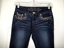 LA Premium Wax Jeans Skinny Jeans-0  Chic lines/fade + pretty gemstone bling!