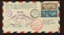 Scott C14-C15 Graf Zeppelin Used Stamps on Nice First Flight Roundtrip Cover