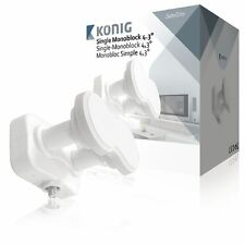 Single MONOBLOCK LNB DUAL TWIN TUNER LMB 4.3° DEGREE HD 0.2dB 19.2 23.5 Astra 3B