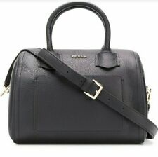 Furla Bag Satchel S Alba 2way Shoulder Handbag Black Leather Women 984381