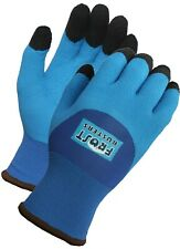 Frost Buster Thermo Blue Latex Winter Gloves 3/4 Coated Insulated