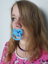 Adult Pacifier Soother Dummy from the dotty diaper company baby blue