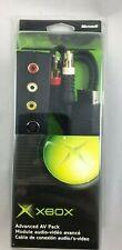 NEW OEM Original Microsoft Xbox Advanced AV PACK S VIDEO OPTICAL RCA Cables