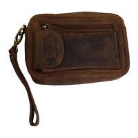 Echt Leder Herrentasche Rustikal aus feinstem Büffelleder - Handgelenkstasche
