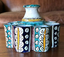 Antique Moroccan ceramic inkwell or paint, late 19th or early 20th century.