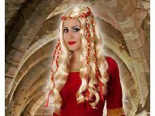 Perruque Blonde Dame Médiévale Déguisement Femme Reine Moyen Age Renaissance