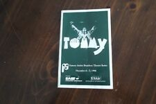 The Who's TOMMY Program Book Rare 1996  SYRACUSE THEATRICAL  DALTRY & TOWNSEND