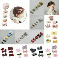 5Pcs/Set Kids Infant Hairpin Baby Girl Hair Clip Bow Flower Bowknot Crown Gifts
