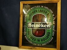 Vintage Heineken Lager Beer Bar Mirror Sign