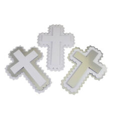 Large 3D Scalloped Cross Card Topper x 4. Perfect Toppers For Wedding Cards