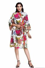 Kimono Dressing Bride Gown Bath Robe Night Dress Sleepwear Indian Maxi Bohemian
