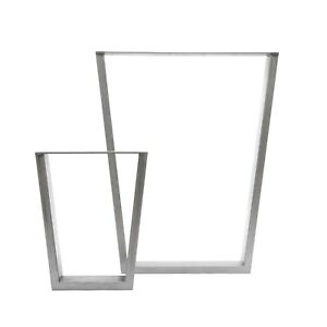 2 x Industrial V-Frame Box Section Table Legs + FREE Floor Protectors & Screws