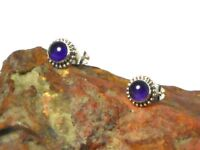 AMETHYST   Sterling  Silver  925  Gemstone  Earrings / STUDS   -  5 mm