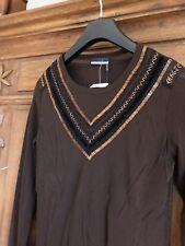 ORWELL Oberteil Shirt Pailletten braun, NEU, Gr. M