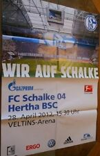 Spielplakat - 28.04.2012 - Schalke 04 vs. Hertha BSC Berlin + Saison 2011/2012 +