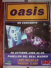 OASIS 06.10.1996 SPANISH BIG PROMO POSTER 100cm X 140cm MUY RARO