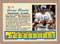 George Blanda '61 Houston Oilers Monarch Corona 20th Century #73 mint cond.