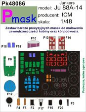 JUNKERS JU-88 A-14 CANOPY PAINTING MASK TO ICM KIT #48086 1/48 PMASK