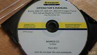 NEW HOLLAND BOOMER 3040 3045 3050 CVT TRACTOR OPERATORS MANUAL CD DN166