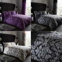 Duvet Cover Set Single Double Super King Pillowcases Luxury Printed Polycotton