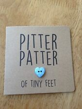 Handmade New Baby Boy card - pitter patter