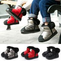 Kids Winter Snow Boots Waterproof Toddler Infant Boys Girls Winter Warm Shoes