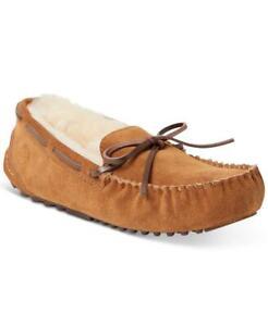 $84.00 Dearfoams Women's Fireside Victoria Moccasin Slipper, Size 9, Chestnut