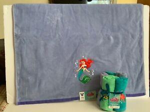 Disney Bath Towel and Washclothes set. The Little Mermaid. BN.FS.