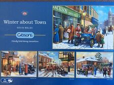 WINTER ABOUT TOWN 4 X 500 PIECE GIBSONS JIGSAW USED