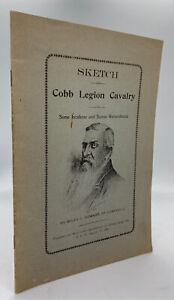Wiley C HOWARD / Sketch of Cobb Legion Cavalry 1949 Facsimile reprint