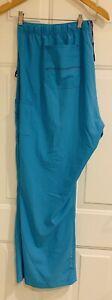 """Carhartt Force Regular 3XL 3X Women's Turq Blue Scrub Pants 32"""" inseam"""