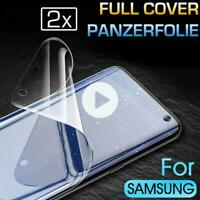 2x Panzer Folie 3D Samsung Galaxy S8 Display Schutzfolie Curved TPU Cover KLAR