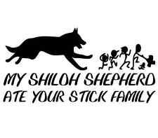 Shiloh shepherd sticker puppy pet german supply wash collar dog tag funny decal