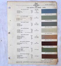 1950 DESOTO ACME COLOR PAINT CHIP CHART ALL MODELS ORIGINAL MOPAR