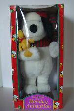 VINTAGE PEANUTS SNOOPY 1997 SANTTA'S BEST MOVING CHRISTMAS HOLIDAY ANIMATION