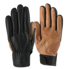 Rayven Napoli Leather Gloves Motorbike Motorcycle Soft Cotton Lining Velcro Cuff