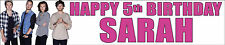 ONE DIRECTION opt 3  PERSONALISED BIRTHDAY BANNERS PACK OF TWO