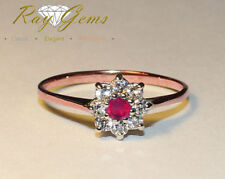 Band Ruby Not Enhanced Rose Gold Fine Rings