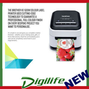 Brother VC-500W Colour Label Printer USB WIFI, AirPrint, Continuous Roll, PC/MAC