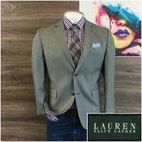 Ralph Lauren Mens Sport Coat Blazer Silk Blend Two Button Jacket Size 40S