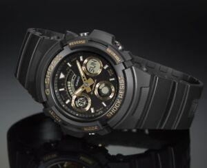 Casio G-Shock * AW591GBX-1A9 Anadigi Black & Gold Watch COD PayPal