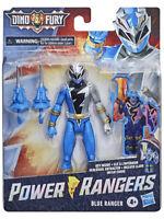 Power Rangers Dino Fury Blue Ranger 6-Inch Action Figure Key Inside Unlock - NEW