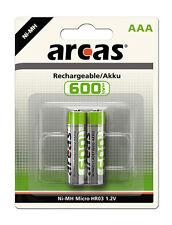 10 x Arcas AAA Mirco HR03 600mAh Blister Telefon NiMH Akku Accu 1,2 V