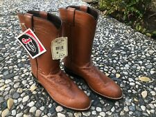 Justin 3021 Exotic Roper Boot with Cognac Smooth Ostrich (Size Mens 9B)