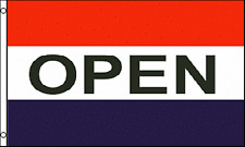 OPEN Shop Advert Sign Advertising PO 5'x3' HEAVY-DUTY NYLON Flag