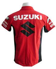 NEW SUZUKI RAC MOTORCYCLE SPORT RACING TEAM BIKER RED POLO SHORT T-Shirt Sz L