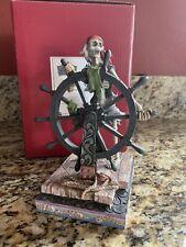 Jim Shore Pirates & The Caribbean Helmsman Skelton Autographed