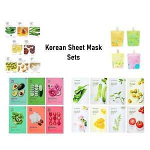 KOREAN SHEET FACE Mask sets: Innisfree Apieu Holika Holika Nature Republic [UK]