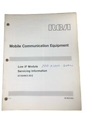 RCA Mobile Communication Equipment Low If Module Servicing Info IB-8027861