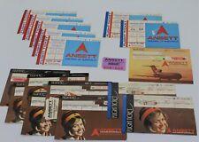 Ansett Airlines Assorted Passenger Tickets 1970s